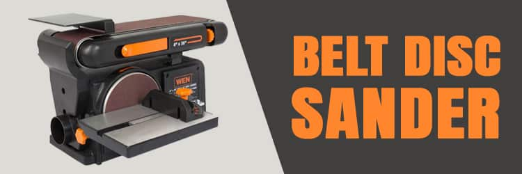 Tools for working wood: Belt disc sander