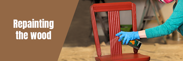 Repainting the wood