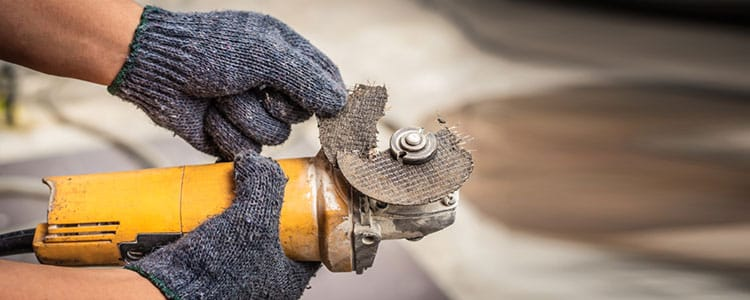 angle grinder care: