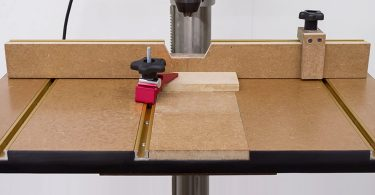 Drill press table setup