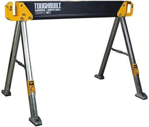 how to use a sawhorse: Jobsite Table