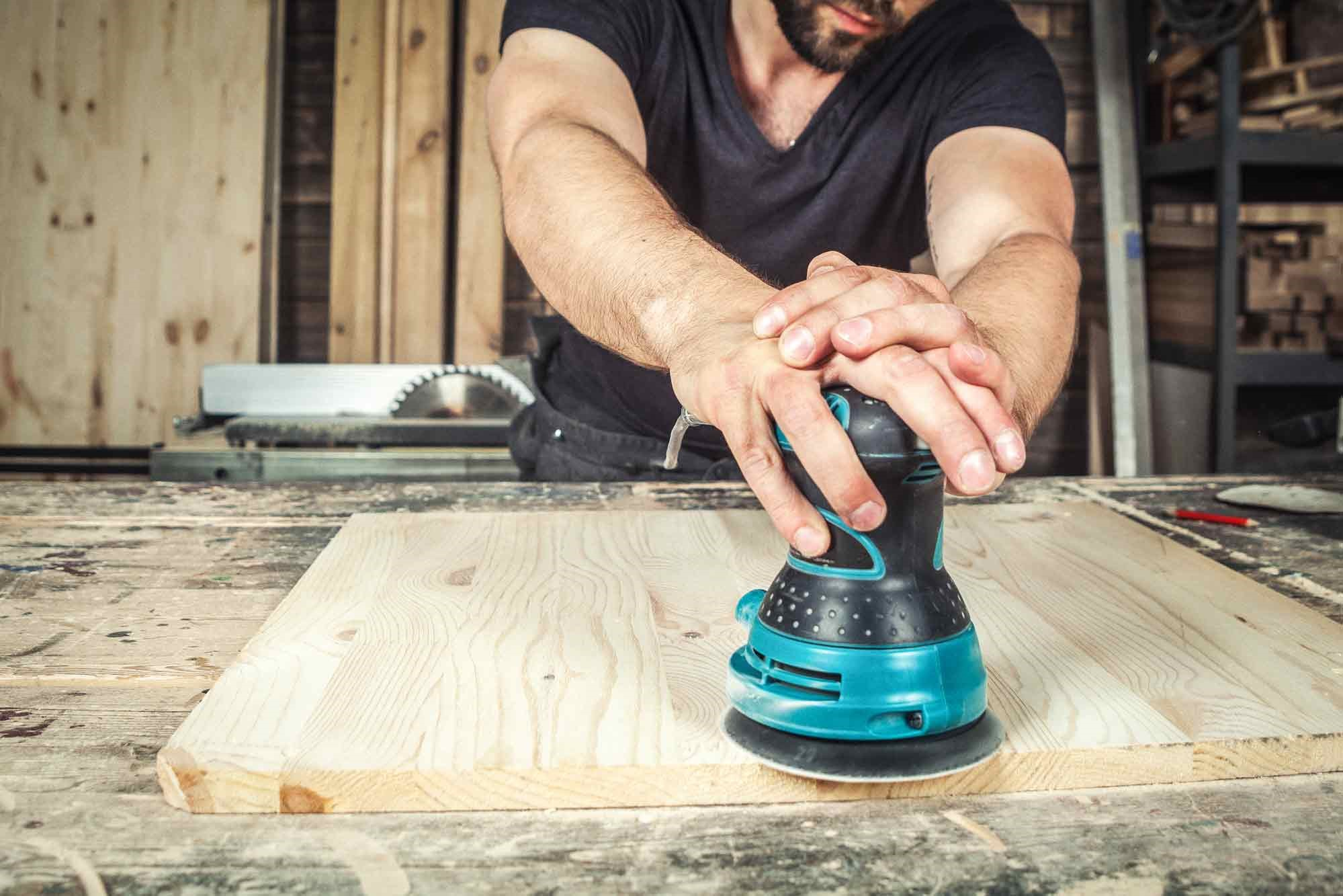 How To Use A Random Orbital Sander: Sanding the surface