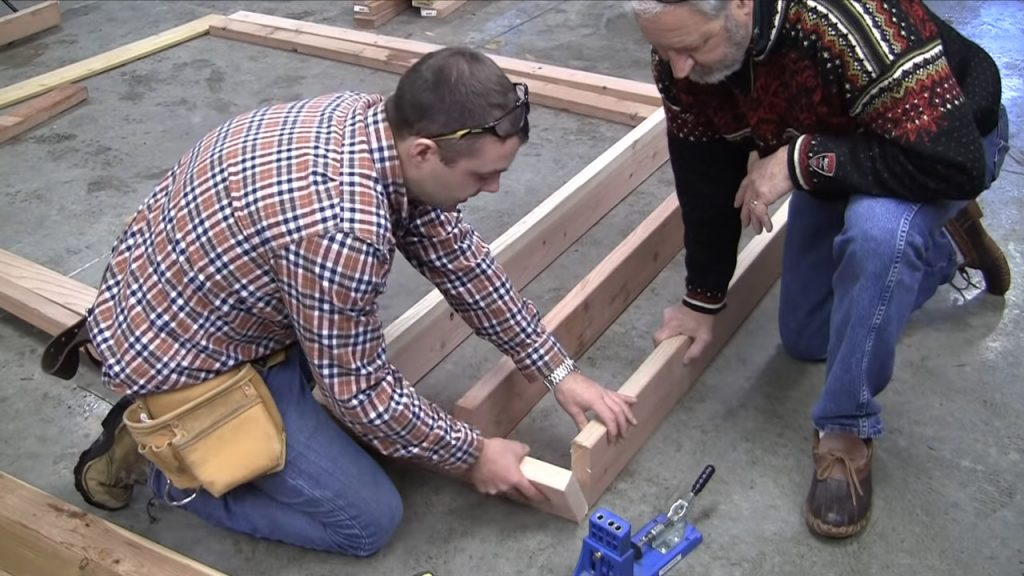 how to build a firewood rack: process