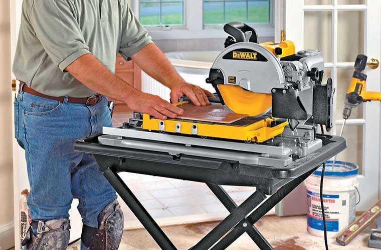 how to use a wet saw; Step-by-Step