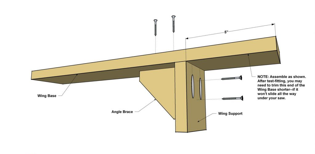 build a mitre saw stand: Make the Side Wing Supports