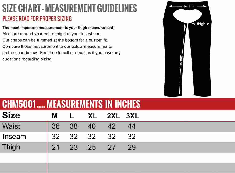 How To Measure Chaps - How To Size Leather Chaps