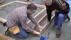 build the base of the firewood rack